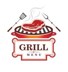 Grill menu design vector
