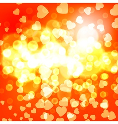 Abstract background flame and hearts vector image vector image