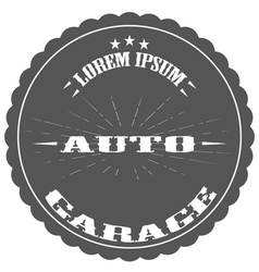 auto repair garage logos and pictures vector image vector image