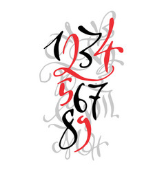 Black and red hand drawn high quality calligraphy vector