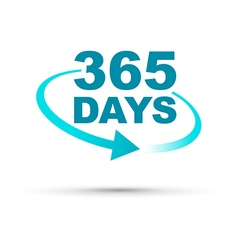 blue 365 days vector image