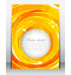 Bright orange poster vector image vector image