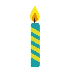 candle flame birthday isolated icon vector image vector image