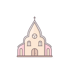 Church chapel building vector