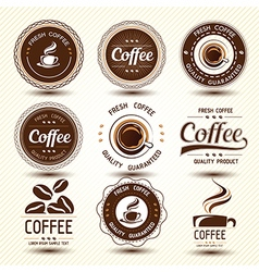 coffee label4 vector image vector image