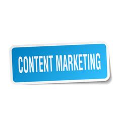 Content marketing square sticker on white vector