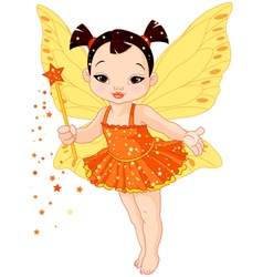 Cute Asian baby fairy vector image vector image