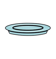 Drawing plate dish food cooking image vector