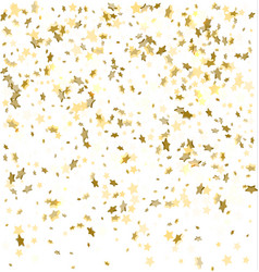 Gold and silver confetti festive decorative vector