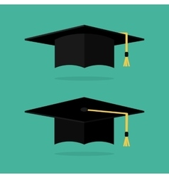 Graduation cap flat vector image vector image