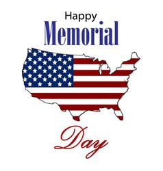 happy memorial day card vector image vector image