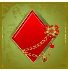Poker Diamonds vector image