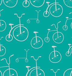 Seamless bicycles pattern bikes use for pattern vector