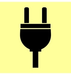 Socket sign Flat style icon vector image