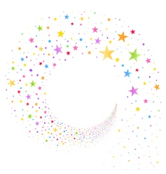 Stream of multicolored stars vector