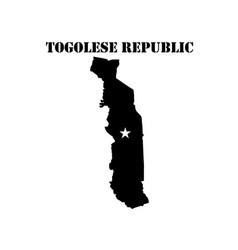 Symbol of togolese republic and map vector