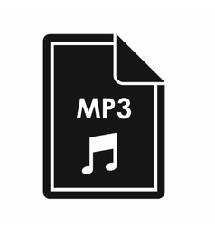 File mp3 icon simple style vector