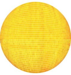 Yellow ball in mosaic vector