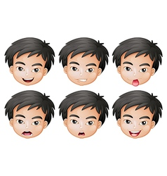 Faces of a boy vector image