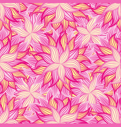 spring or summer flowers pattern floral vector image