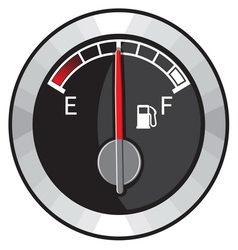 Half gas tank indicator vector