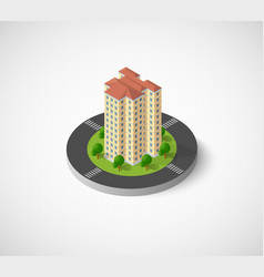 city with isometric houses vector image