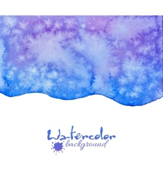 Blue decorative watercolor background vector