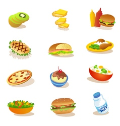 Set of healthy food vector