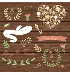 Elegant collection of graphic elements vector