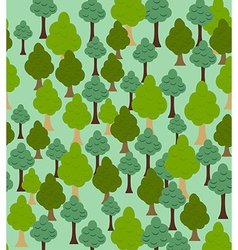 Seamless forest pattern cartoon tree background vector