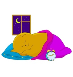 Sleeping bear vector
