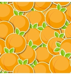 Seamless pattern background from peach vector