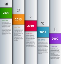 Time line info graphic with stripes design vector
