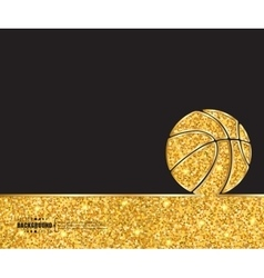 Creative basketball Art vector image