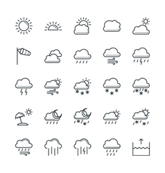 Weather cool icons 1 vector