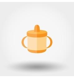Baby cup icon vector image vector image