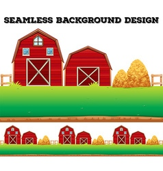 Barns and haystack on farm vector