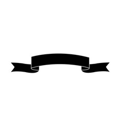 Black ribbon banner decoration ornament vector