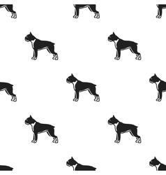 Boxer dog icon in black style for web vector