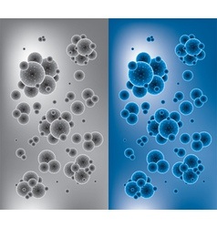 chemistry backgrounds with molecules vector image vector image