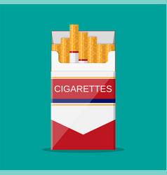cigarettes open pack vector image
