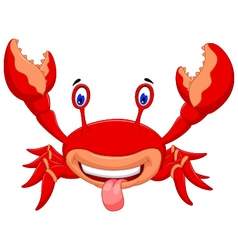 cute crab cartoon for you design vector image vector image