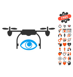 eye spy drone icon with valentine bonus vector image