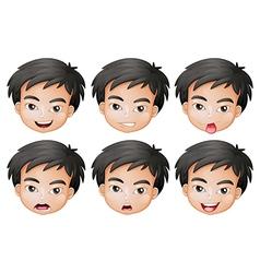 Faces of a boy vector image