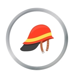 Firefighter helmet icon cartoon single silhouette vector