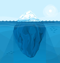 Full big iceberg in the sea vector image vector image