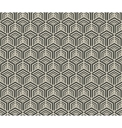 hexagon geometric seamless pattern vector image