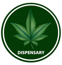 Icon design for dispensary vector