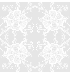 Lacy floral pattern vector image