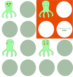 Lovely octopuses vector